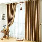 cortina em voil e cetim