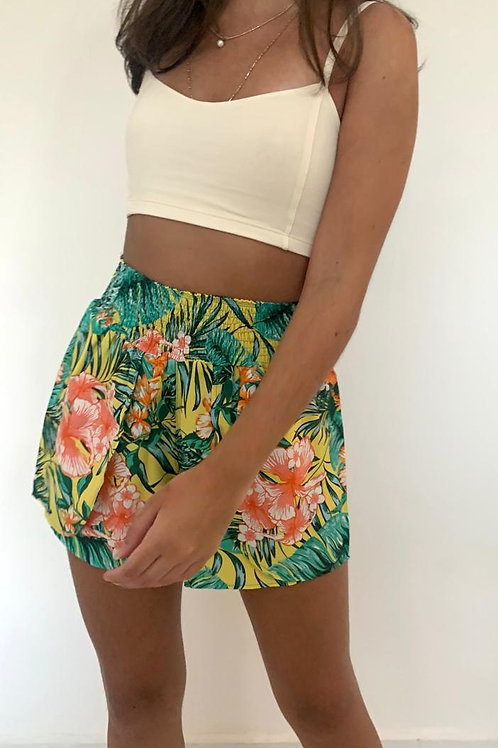 Shorts Tropical (Amarelo)