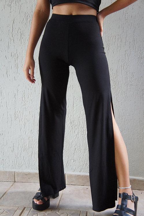 Calça Pantalona Fenda