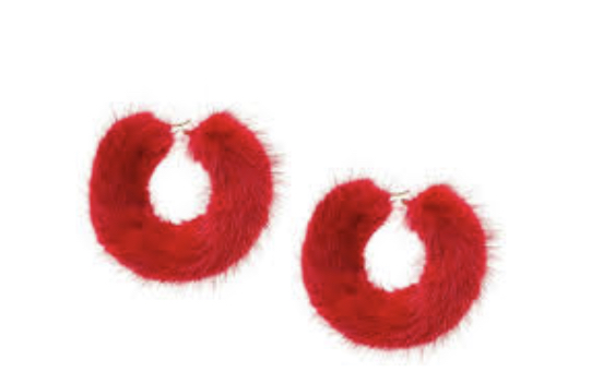 Furry Earrings