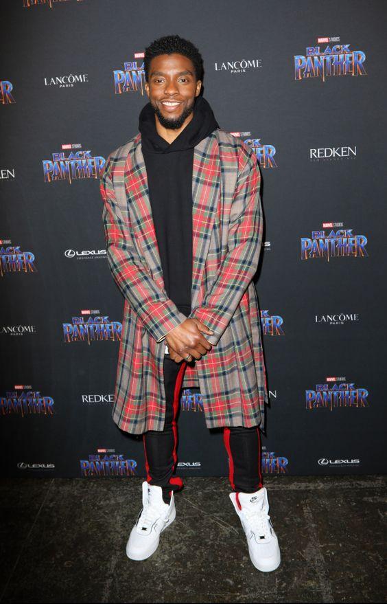 Chadwick Boseman at the Black Panther Welcome to Wakanda New York Fashion Week Showcase