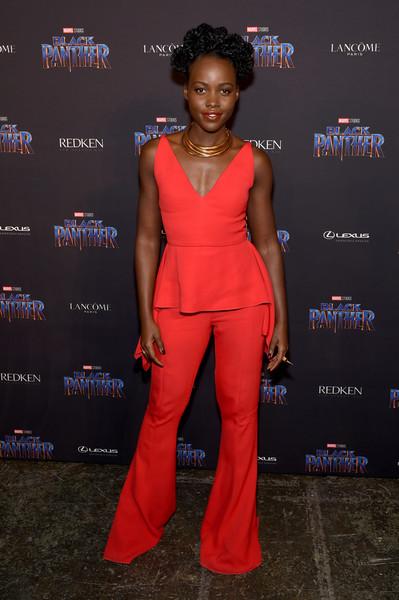 Lupita Nyong'o at the Black Panther Welcome to Wakanda New York Fashion Week Showcase