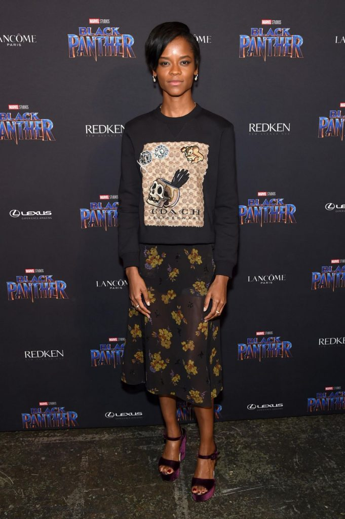 Letitia Wright at The Black Panther Welcome to Wakanda New York Fashion Week Showcase
