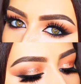 Apply with an open eyelid