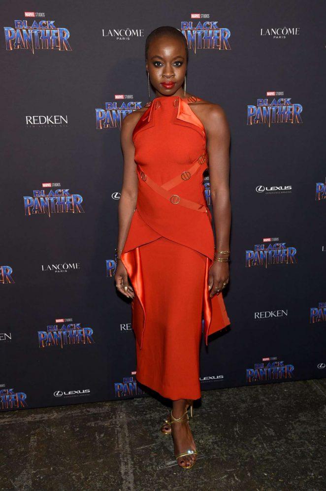 Danai Gurira at the Black Panther Welcome to Wakanda New York Fashion Week Showcase