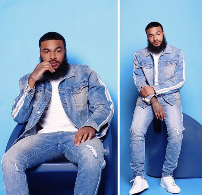 Denim on denim is a classic trend that can easily be done incorrectly. However, with the addition of the plain white t-shirt, white stripes and white sneakers, they help break up the denim. Adding elements to the ensemble prevents the denim from being overpowering to viewers.