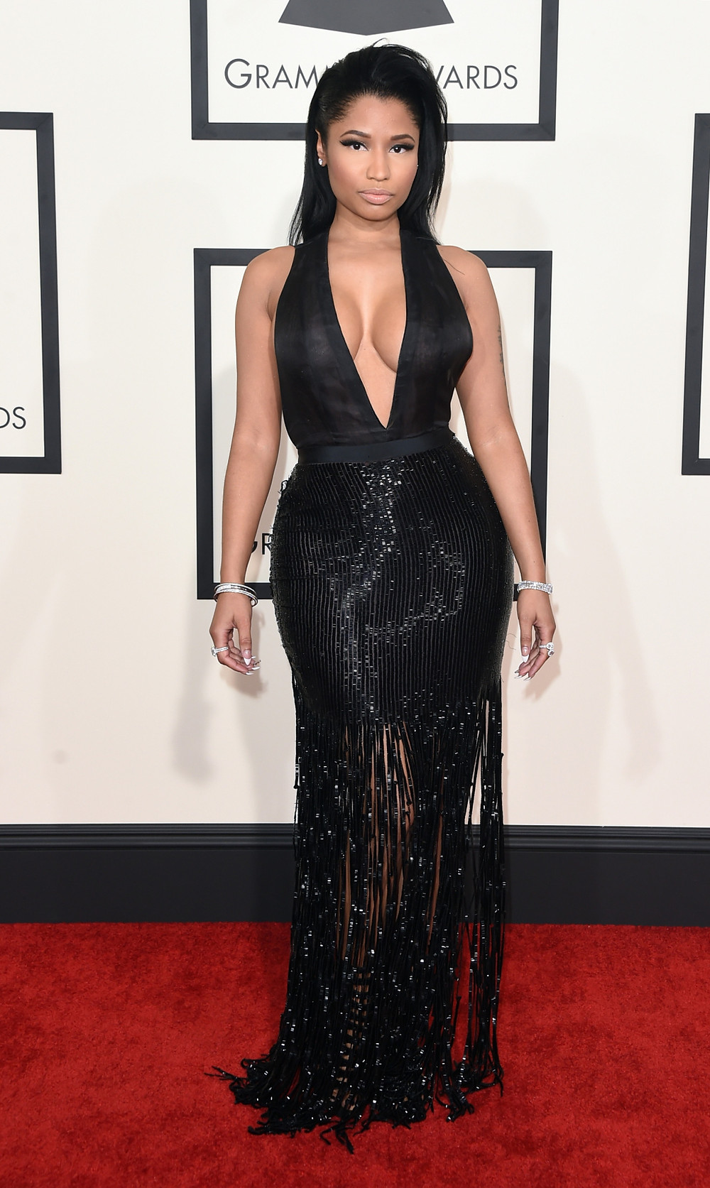 Nicki Minaj at the 57th Grammy Awards (photo: globalgrind.com)