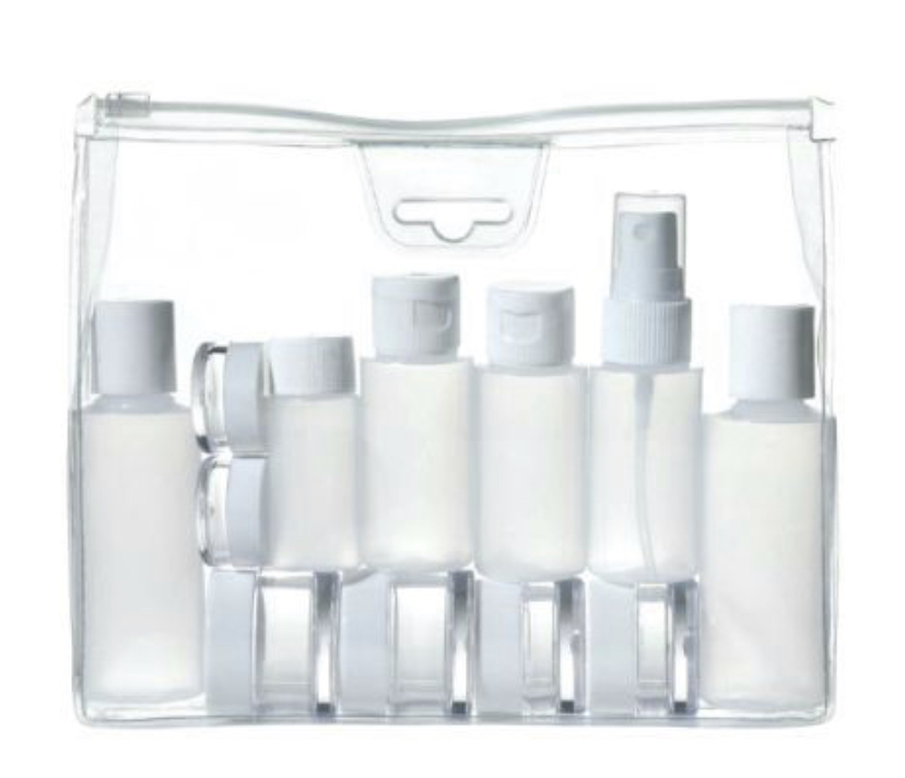 To avoid having to throw away any hair care or makeup products at any security checkpoints, purchase a couple of travel containers. You won't have to waste money on replacing products and you can minimize space in your luggage.
