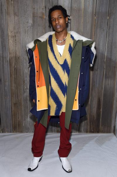 ASAP Rocky at The Calvin Klein Collection