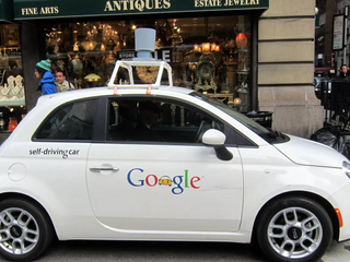 Unmanned Google Car on the Road