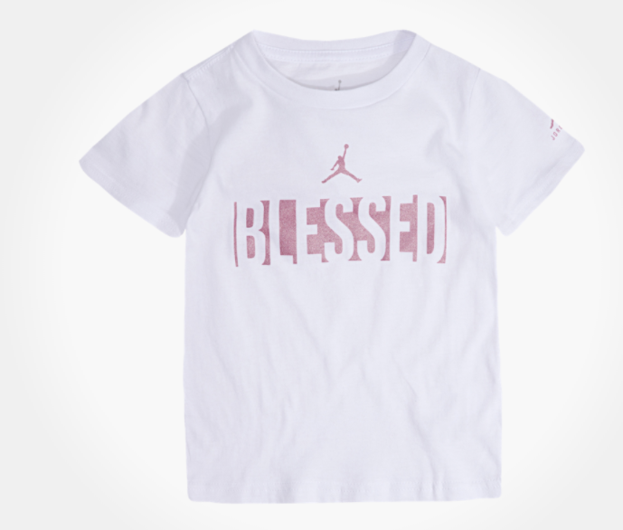 Jordan Blessed T-Shirt (WhitePink)