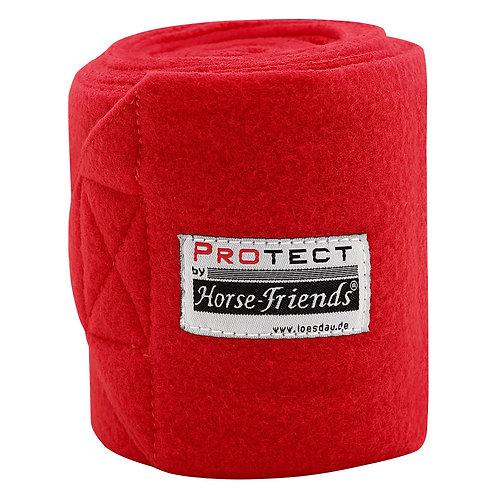 Флисовые бинты PROTECT. Красный.