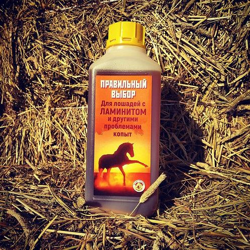 Масляная подкормка для лошадей страдающих ламинитом и другими проблемами копыт.