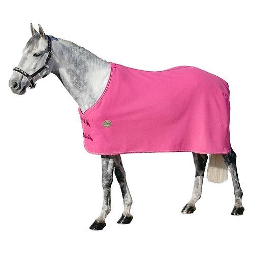 Попона розовая с серебристым кантом. 135см