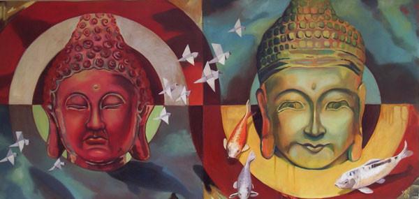 Buddha II, 2009, 48 x 25 inches