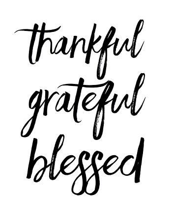 Thankful. Grateful. Blessed.