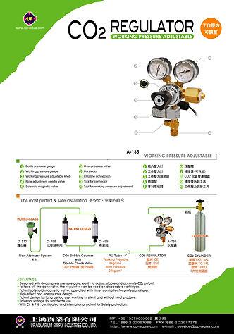 HEAVY DUTY CO2 REGULATOR BRASS BODY DOUB