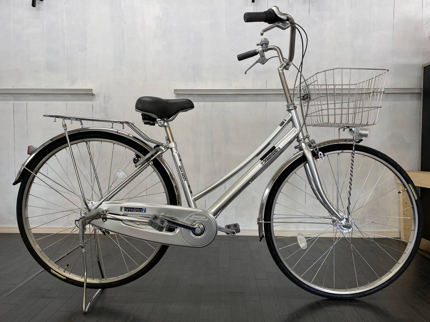 丸石自転車フォーメーションWループ オートライト、ローラーブレーキ、ステンレスリム、泥除け、ディンプルキー
