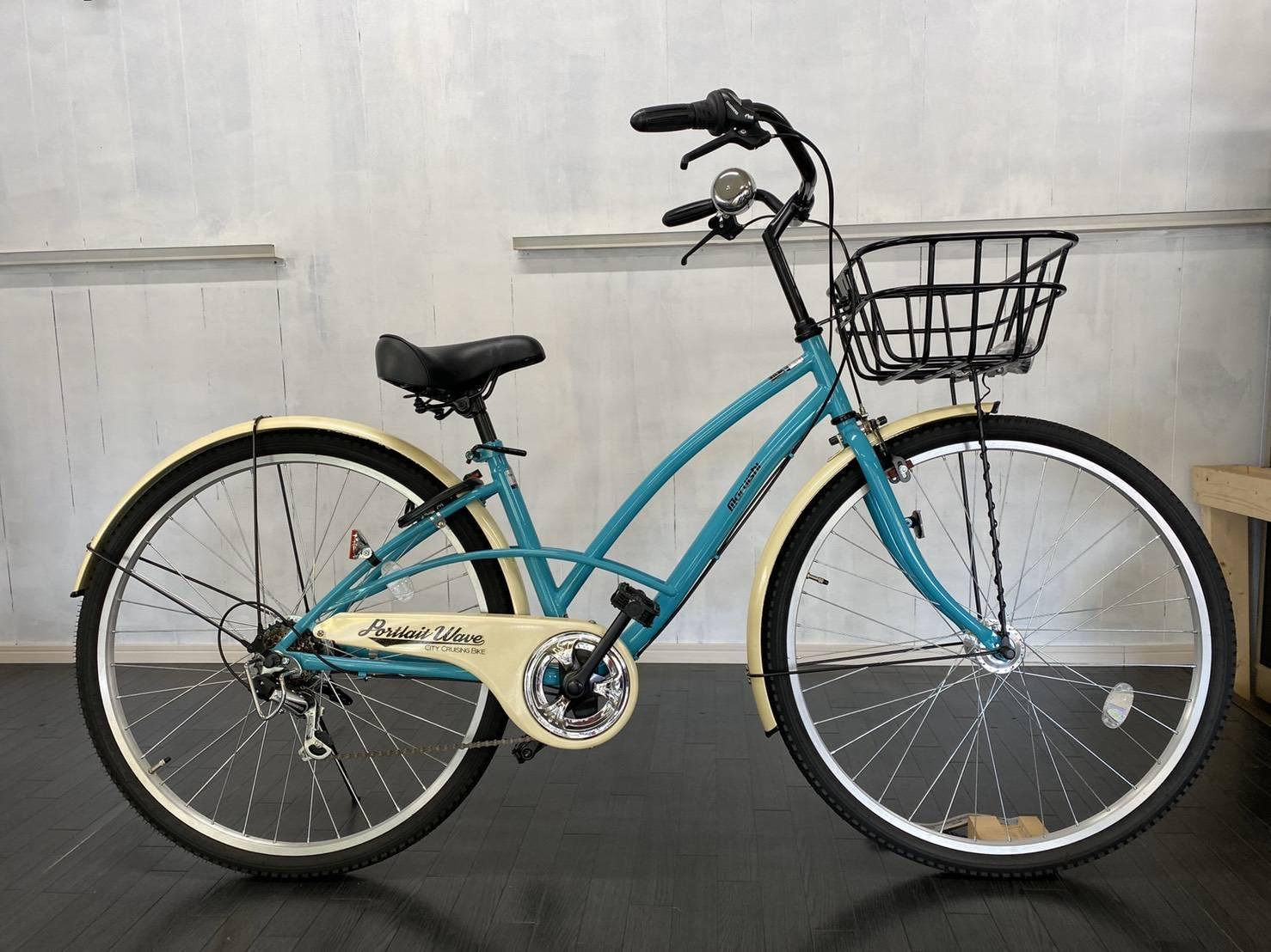 丸石自転車ポートレートウェーブ700cオートライト、 ローラーブレーキ