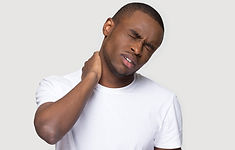 Black millennial man in white t-shirt on