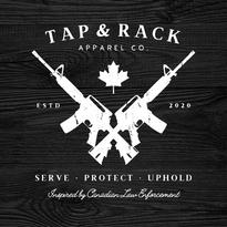 Tap & Rack Crossed Guns Logo