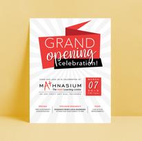 Mathnasium Grand Opening Flyer