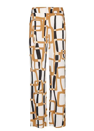 Caroline Biss - soepelvallende rechte broek, normal waist - mullti color