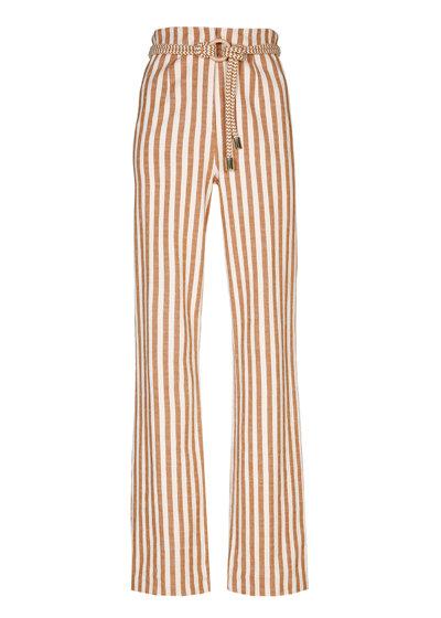 Caroline Biss - rechtvallende katoenen broek, high waist