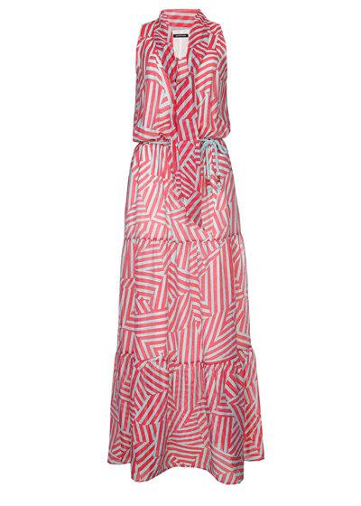 Caroline Biss - zomerse maxi jurk - mullti color