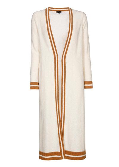 Caroline Biss - lange knusse bicolor cardigan - mullti color