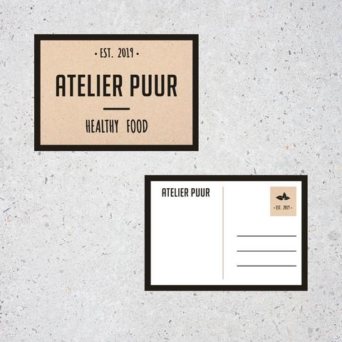Atelier Puur postkaart