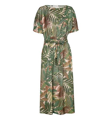 Gigue - jurk met bladerprint