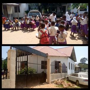 All Nations Academy på Zanzibar, ligger direkt i  anslutning till en hårt trafikerad väg. Denna grind har vi byggt för att hindra barnen att spinga ut till gatan