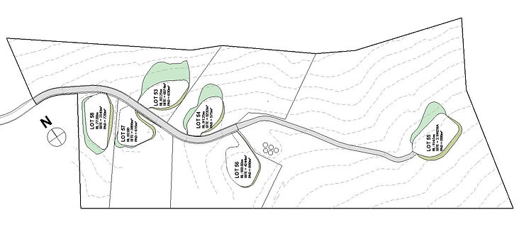 Makoha Ridge cut fill site plan