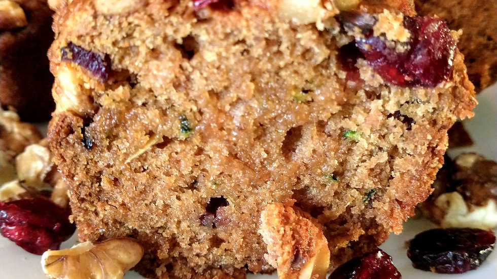 Vegan Zucchini Cranberry Walnut Bread - Small