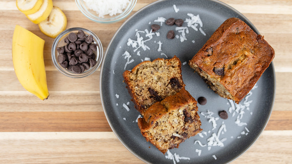 "Slices of ""Island Monkey"" Banana Bread - Without Nuts"