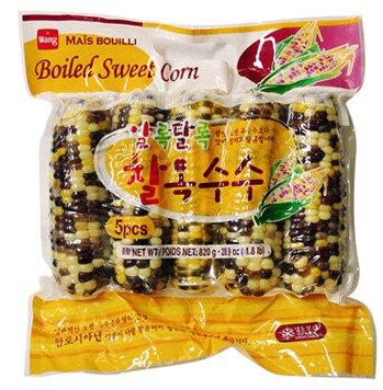 Corn Frozen 5pcs, 찰옥수수 (냉동) 5pcs