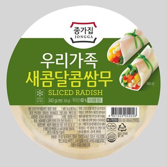 Pickled Sliced Radish 340g, 종가집 쌈무 340g