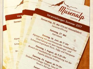 Veranstaltungen auf der Musenalp