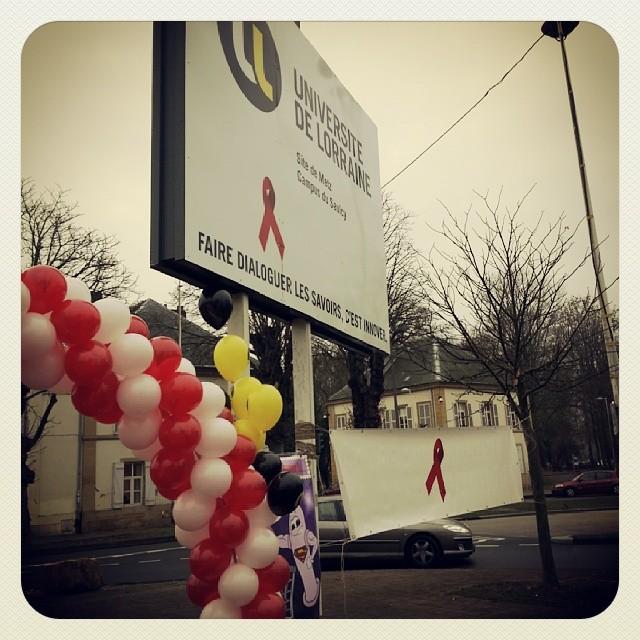 #journeemondialecontrelesida # universitedelorraine #sida #preservatifs #vih