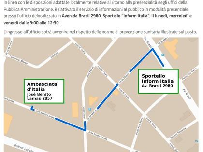 RIATTIVAZIONE DEL SERVIZIO INFORMAZIONI AL PUBBLICO – SPORTELLO INFORM ITALIA