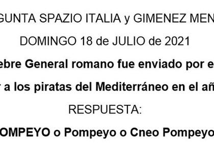 Pregunta de Spazio Italia y Giménez Méndez