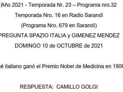 Spazio Italia Pregunta 10 oct 2021