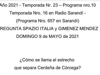 Pregunta de Spazio Italia y Gimenez Mendez del 9-5-2021