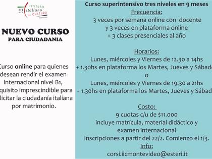 Cursos de Italiano en el Instituto Italiano de Cultura