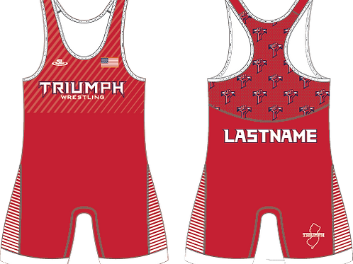 Triumph Red Sublimated Singlet