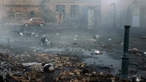 The Battle of Berlin scene from Downfall