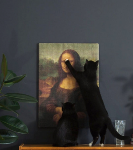 Artistic Scratching Posts Allow Cats To Destroy Priceless Masterpieces