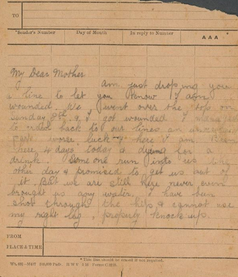 Letters from the Front, Extreme Stiff Upper Lip Edition