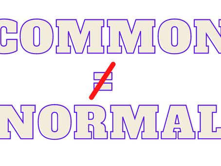 Common Does Not Equal Normal